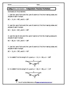 intermediate 2 area sine cosine rule worksheet mr mcfarlane mafiadoc com. Black Bedroom Furniture Sets. Home Design Ideas