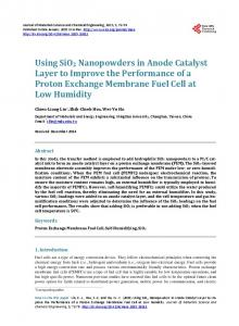 Using SiO2 Nanopowders in Anode Catalyst Layer to Improve the