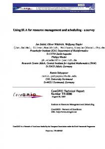 Using SLA for resource management and scheduling - a survey ...