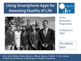 Using smartphone apps for assessing Quality of Life