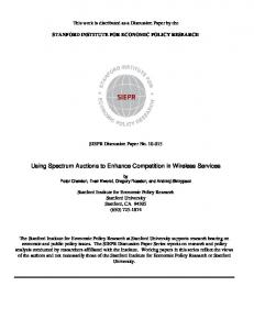 Using Spectrum Auctions to Enhance Competition in Wireless Services