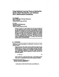 Using Statistical Learning Theory to Rationalize System ... - Wolfram