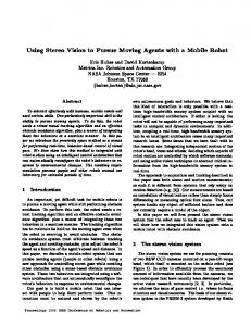 Using Stereo Vision to Pursue Moving Agents with a ... - TRACLabs