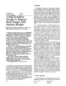 Using Synthetic Images to Register Real Images ... - Semantic Scholar