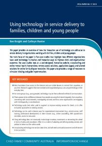 Using technology in service delivery to families, children and young ...