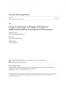 Using Technology to Engage and Improve