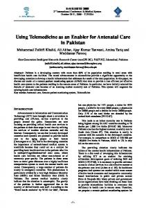 Using Telemedicine as an Enabler for Antenatal Care in ... - CiteSeerX