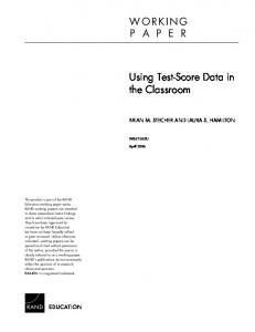 Using Test-Score Data in the Classroom