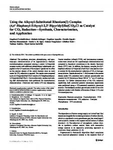Using the Alkynyl-Substituted Rhenium(I) Complex