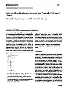 Using the Gene Ontology to Annotate Key Players in Parkinson's ...