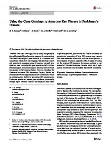 Using the Gene Ontology to Annotate Key Players in ...