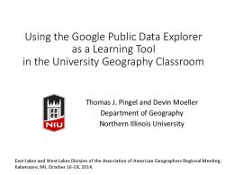 Using the Google Public Data Explorer as a Learning ...