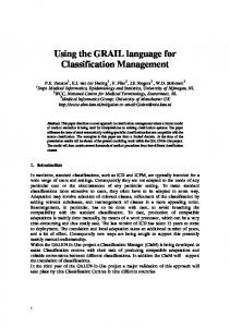 Using the GRAIL language for Classification ... - OpenGALEN
