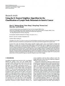Using the K-Nearest Neighbor Algorithm for the Classification of ...