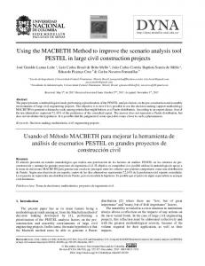 Using the MACBETH Method to improve the ... - SciELO Colombia