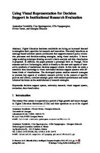 Using Visual Representation for Decision Support in ... - Springer Link