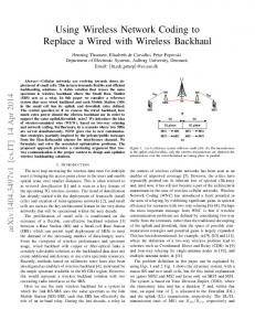 Using Wireless Network Coding to Replace a Wired with ... - arXiv