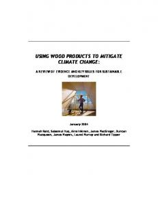 using wood products to mitigate climate change - Food and Agriculture ...