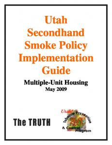 Utah Secondhand Smoke Policy Implementation Guide