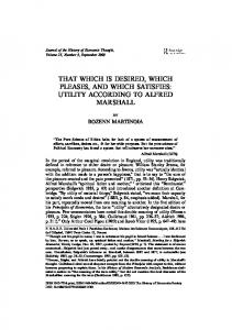 utility according to alfred marshall
