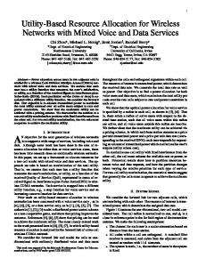 Utility-Based Resource Allocation for Wireless Networks ... - CiteSeerX