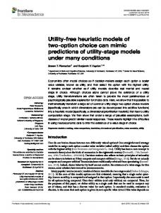 Utility-free heuristic models of two-option choice ... - Semantic Scholar