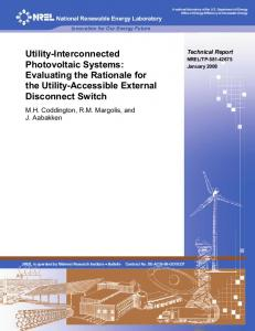 Utility-Interconnected Photovoltaic Systems: Evaluating ... - CiteSeerX