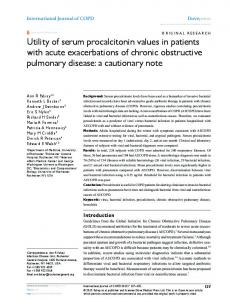 Utility of serum procalcitonin values in patients with ... - BioMedSearch