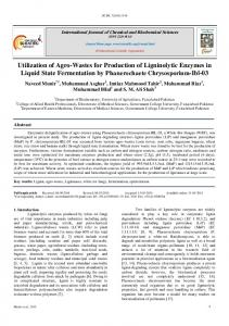 Utilization of Agro-Wastes for Production of Ligninolytic Enzymes in
