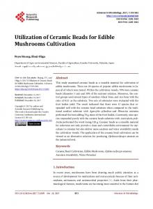 Utilization of Ceramic Beads for Edible Mushrooms Cultivation