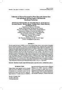 Utilization of Glucose Recovered by Phase Separation System from