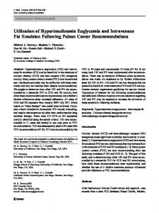 Utilization of Hyperinsulinemia Euglycemia and ... - Springer Link
