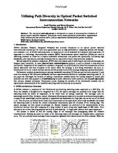 Utilizing Path Diversity in Optical Packet Switched ... - Semantic Scholar