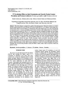 UV Irradiation Effects on Seed Germination and ... - Semantic Scholar