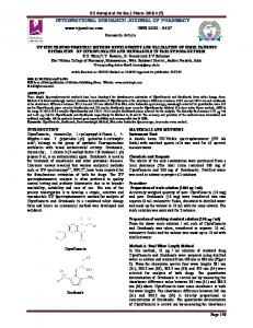 uv spectrophotometric method development and validation of ...