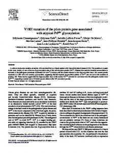V180I mutation of the prion protein gene associated