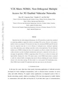 V2X Meets NOMA: Non-Orthogonal Multiple Access for 5G ... - arXiv