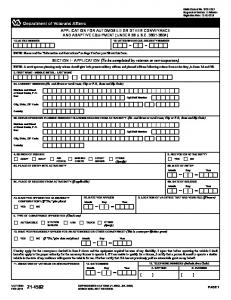 Va form 40-1330, claim for standard government headstone or marker ...