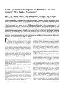 Vaccination Peptide Protective Anti-Viral Immunity After 4-1BB ...