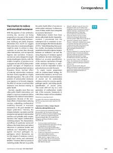 Vaccination to reduce antimicrobial resistance - The Lancet