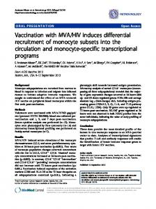 Vaccination with MVA/HIV induces differential ... - Retrovirology