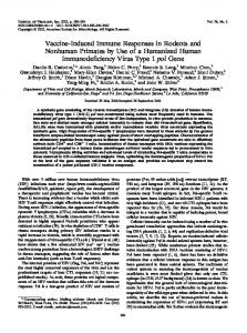 Vaccine-Induced Immune Responses in Rodents ... - Journal of Virology