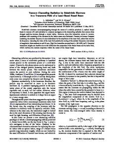 Vacuum Channeling Radiation by Relativistic ... - Semantic Scholar