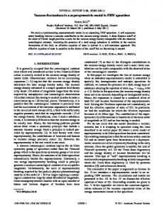 Vacuum fluctuations in a supersymmetric model ... - APS Link Manager