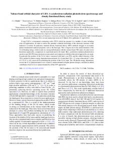 Valence-band orbital character of CdO: A ... - APS Link Manager