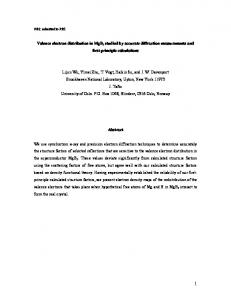 Valence electron distribution in MgB2 studied by accurate ... - arXiv