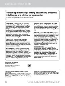 Validating relationships among attachment ... - Wiley Online Library