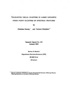 Validating visual clusters in large datasets: fixed point clusters of ...