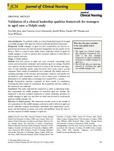 Validation of a clinical leadership qualities ... - Wiley Online Library
