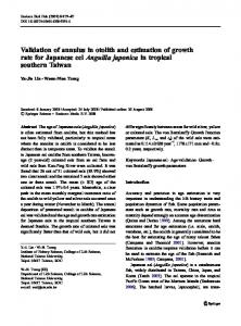 Validation of annulus in otolith and estimation of ... - Springer Link